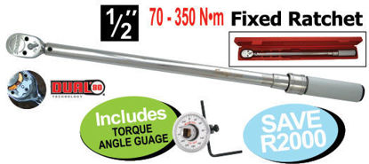 """Picture of XXOCT111 1/2"""" Click type - Mechanical Torque Wrench Includes TORQUE ANGLE GUAGE"""