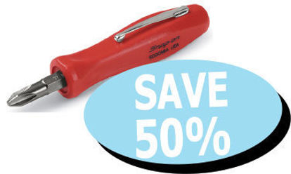 Picture of XXOCT108 Pocket Screwdriver Red Handle with reversible bit
