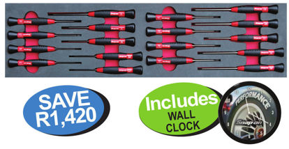 Picture of XXNOV113 Electronic Screwdriver Set (18pc) Includes Wall Clock
