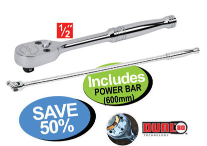 """Picture of XXNOV108 1/2"""" Drive Ratchet Includes POWER BAR (600mm)"""