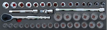 """Picture of MOD.137SH45SF - 1/2"""" General Service Set; 19pc - Imperial"""