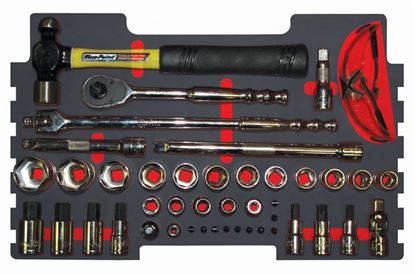 """Picture of MOD.261SR43F 1/2"""" Drive Socket and Accessory Plus Hammer Set 41pc for KMC All Weather Top Chest"""