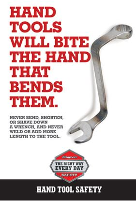 Picture of EDUPOSTER-HANDTOOLS Bending Hand Tools Educational Safety Poster