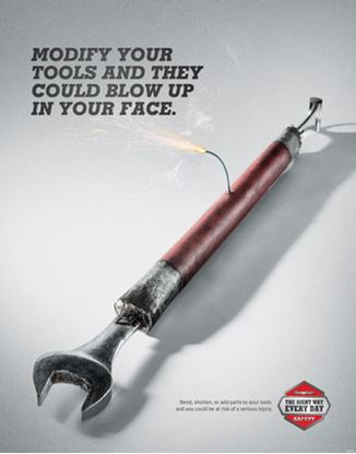 Picture of EDUPOSTER-WRENCH Modify Wrench Educational Safety Poster
