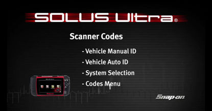 Picture of Vehicle ID & Codes SOLUS Ultra™