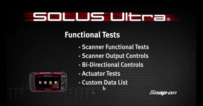 Picture of Scanner Functional Tests SOLUS™ Ultra
