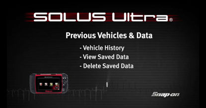Picture of Previous Vehicles & Saved Data – SOLUS Ultra™