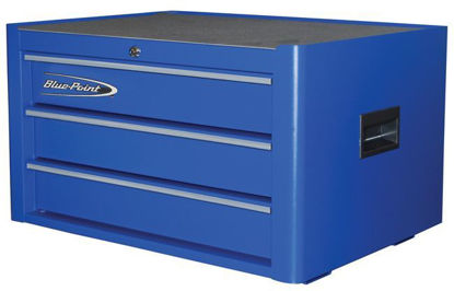 Picture of  KRB2003KZE5S-WO Top Chest 3Drw Textured Blue - Silver PVC Trim