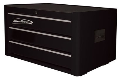 Picture of  KRB2003KZE3S-WO Top Chest 3Drw Textured Black - Silver PVC Trim
