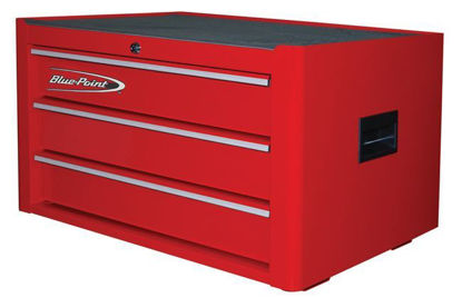 Picture of  KRB2003KZE1S-WO Top Chest 3Drw Textured Red - Silver PVC Trim