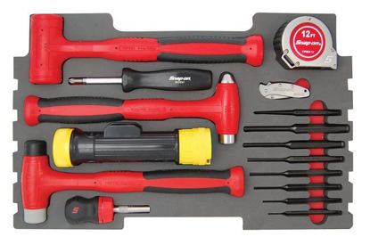 Picture of MOD.393SR43F 16pc Hammer & Punch Set for KMC All Weather Top Chest