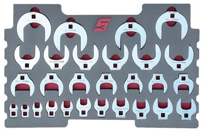 """Picture of MOD.809SR43F 28pc 3/8"""" Crowfoot Wrench Set for KMC All Weather Top Chest"""