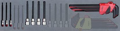 "Picture of MOD.715SH45SM - 3/8"" Long Allen Keys / Hex Bit Socket Set; 16Pc - Metric"