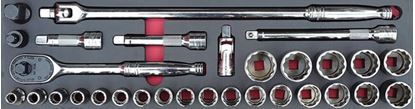 """Picture of MOD.713SH45S - 1/2"""" General Service Set; 30Pc - Metric"""