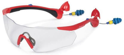 Picture of GLASS90RCEAR Safety Glasses with Built-in Ear Plugs