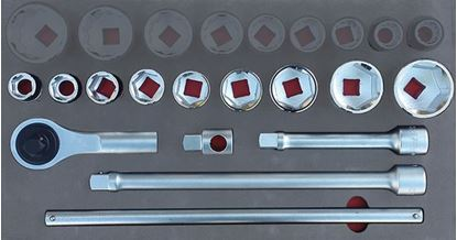 """Picture of MOD.758SH45LM - 3/4"""" General Service Set; 13Pc - Metric"""