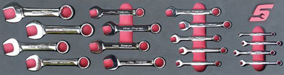 Picture of MOD.747SH45S 17pc Metric Stubby Combination Spanner Set