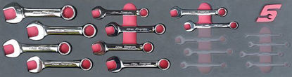 Picture of MOD.747SH45S10 10pc Metric Stubby Combination Spanner Set
