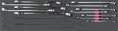 Picture of MOD.716SH45S12 12pc Metric Polished Finish Combination Spanner Set