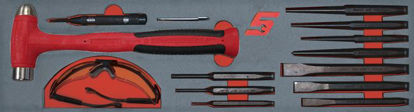 Picture of MOD.277SH45S - Hammer and Punches Set 14pc