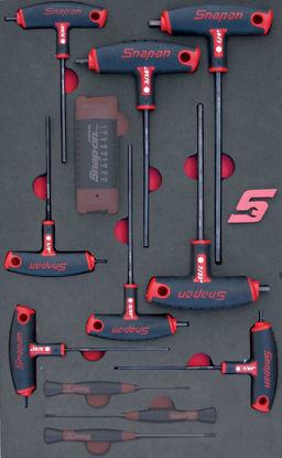 Picture of MOD.198SH42D8-B 8pc Imperial Ball Hex T & L Shape Allen Key Set