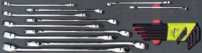 Picture of MOD.719SH45S24 24pc Imperial Polished Finish Comb Spanner Set