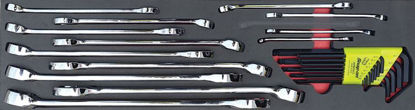 Picture of MOD.719SH45S26 26pc Imperial Polished Finish Comb Spanner Set