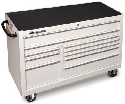 Picture of KRA2422PU Classic Series X-Wide Roll Cab Double Bank 10 Drawers White