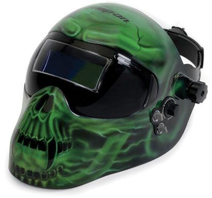 Picture of EFPGREENSKL Green Skull Helmet Welding Auto Darkening Adjustable with Grind feature