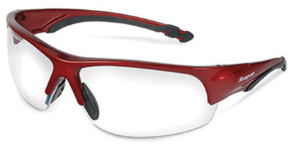 Picture of GLASS50R Glasses Safety Red Frame/Clear Lens