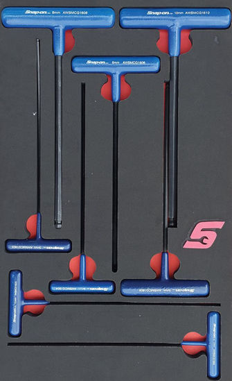 Picture of MOD.753SH42D-B 8pc Metric Ball Hex T-Handle Wrench Set