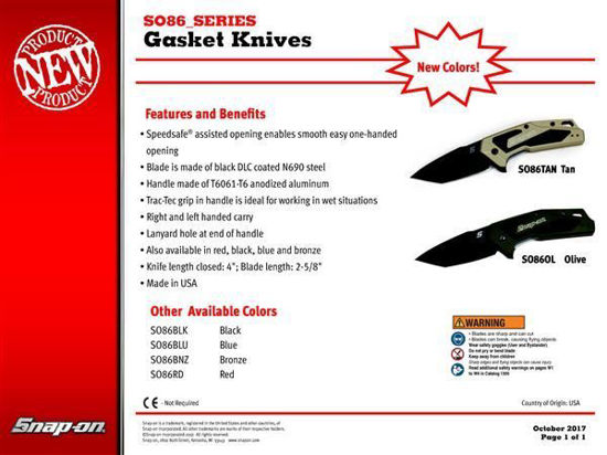 Picture of SO86_SERIES - Gasket Knife