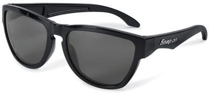 Picture of SORSSBSM02 - Shiny Black Frame Smoke Lens Rockstar Sunglasses