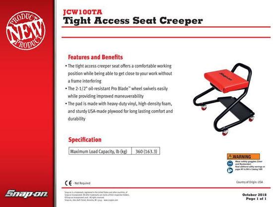 Picture of JCW100TA Seat Creeper Tight Access