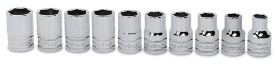 Picture of 310TWMYA 1/2 Socket Set 6pt 10pc metric