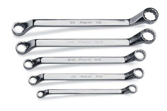 Picture of XO605- 5 pc 12-Point SAE Flank Drive® Standard 60° Deep Offset Box Wrench Set