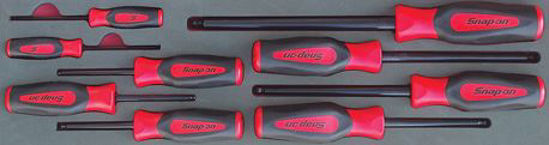 Picture of MOD.864SH45S - Ball Hex Screwdriver set 2-10mm; 9Pc - Metric