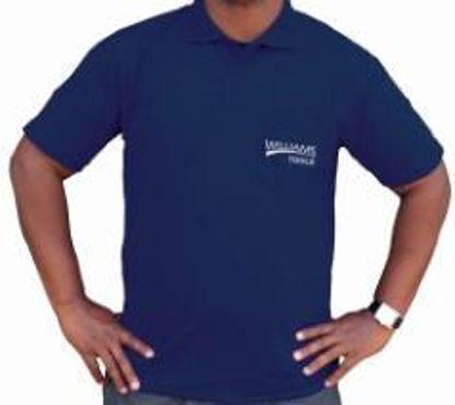 Picture of SHIRTGWILL-M - Golfshirt Navy Williams M