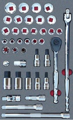"""Picture of MOD.831SH42D - 1/2"""" Sockets & Accessories Set; 40Pc - Metric"""