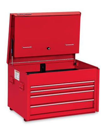 """Picture of KRA6210FPBO - 36"""" Four-Drawer Heavy-Duty Road Chest with Side Handles - Red"""