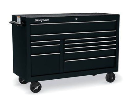 Picture of KRA2422PC Classic Series X-Wide Roll Cab Double Bank 10 Drawers Black