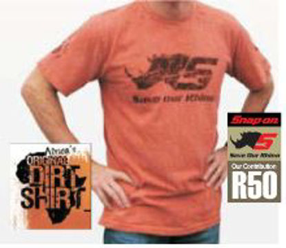 Picture of SHIRTRHINOD-M Save Rhino Mens T- Med