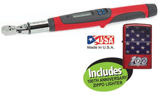 """Picture of  XXMAY204 1/4"""" Drive Flex-Head Techwrench® Torque Wrench with 100th Anniversary Zippo Lighter"""