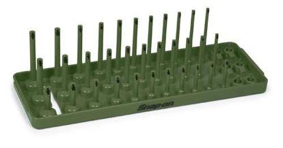 "Picture of KA143METCG - 1/4"" Metric Post 3-Row Socket Tray - Combat Green"