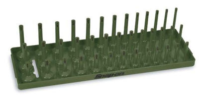 "Picture of KA383METCG - 3/8"" Metric Post 3-Row Socket Tray (Combat Green)"