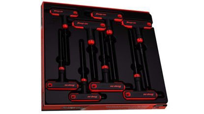 """Picture of AWSG800A - 8 pc T-Shaped/ L-Shaped Combination Hex Wrench Set 3/32-1/4"""""""