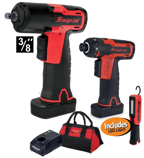 Picture of  XXDEC217 - 14.4V Cordless Impact Gun Kit with Cordless Screwdriver includes LED Light