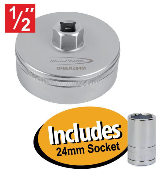 Picture of XXDEC206 Oil Filter Wrench 86mm Includes 24mm Socket