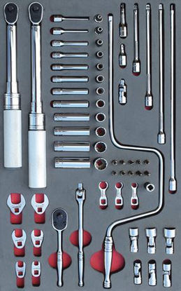 """Picture of MOD.315SH42D - 1/4"""" Aviation General Service Set with Torque Wrenches; 62Pc - Imperial"""