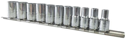 """Picture of BLPSM14SET11Y-WO - 1/4"""" 6Pt Shallow Socket Set 5-14mm; 11Pc - Metric"""
